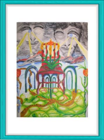 Antoni Gaudi, Malerei, Kunst, Aquarell, Surrealismus,