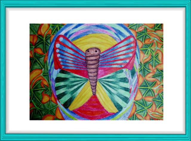 Malerei, Kunst, Aquarell, Biotechnologie, Bewegung, Luftmasse, Efeu, Flammen