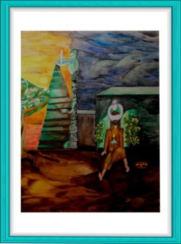 Malerei, Kunst, Aquarell, Blindheit, Modern Art, Bibel,