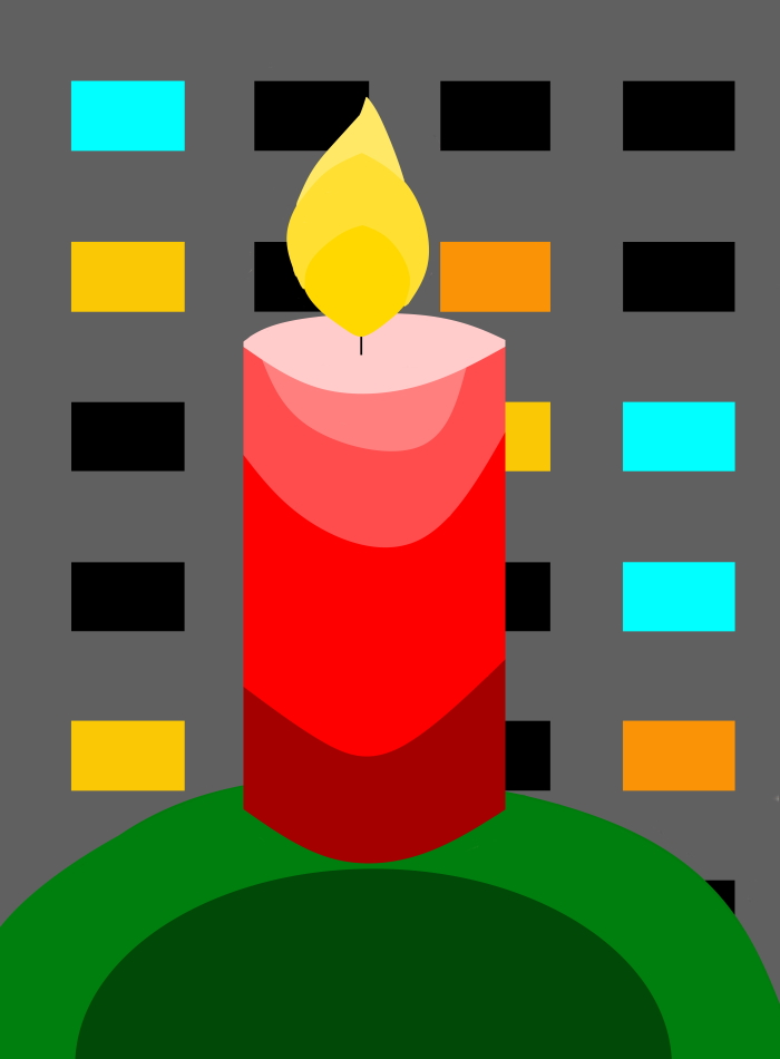 Grafikdesign, Advent, 1. Advent, Kerze, Adventskranz, Hochhaus