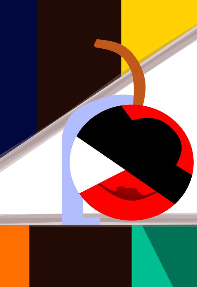 Grafik, Grafikdesign, geometrische Formen, Kubismus, Mark Chagall, Dreieck, Teller, Baumstamm,