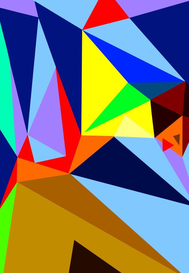 Design, Grafikdesign, geometrische Form, Pyramide, Kubismus, Nase, Gesicht, blau, rot, grün, violett, Ägypten