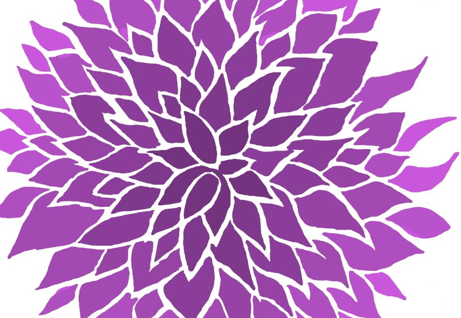 Blume, violett, Design, Grafikdesign