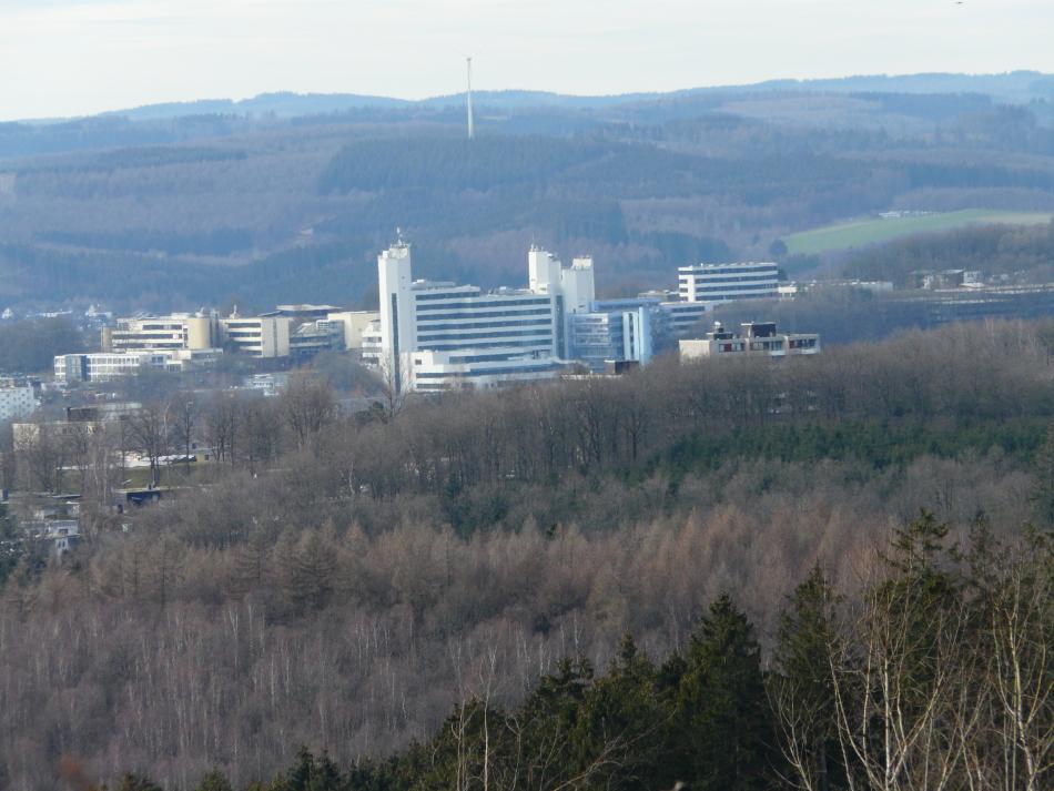 Universität Siegen aus der Perspektive vom Rabenhain