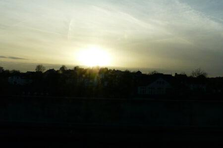 Foto, Sonne, Gegenlicht, fahrendes Auto, Impression